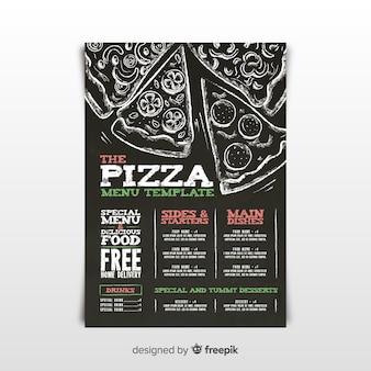 Modello di menu pizza