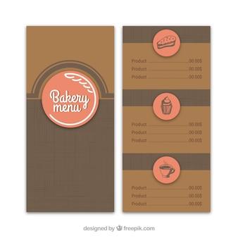 Modello di menu retro panetteria
