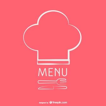 Modello di menu ristorante d'epoca