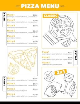 Modello di menu ristorante digitale verticale