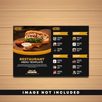 Modello di menu ristorante