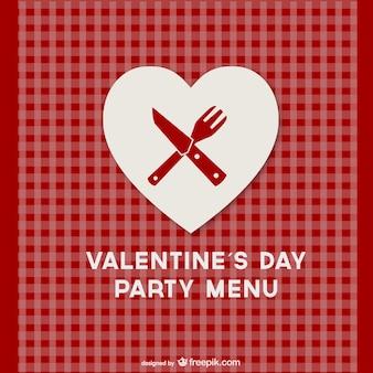 Modello di menu san valentino