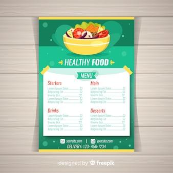 Modello di menu sano colorato