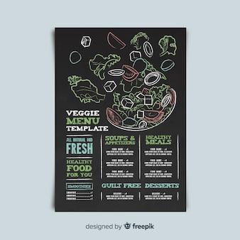 Modello di menu vegetariano