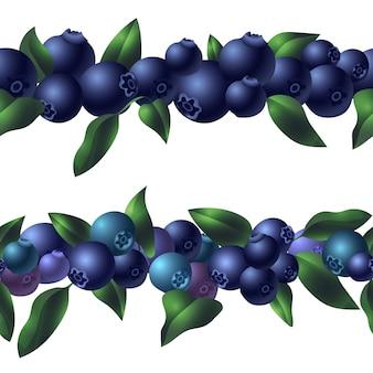 Modello di mirtillo biologico, stile cartoon