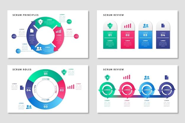 Modello di mischia infografica