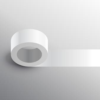 Modello di mockup adesivo a nastro adesivo