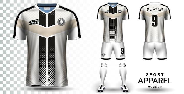 Modello di mockup di presentazione di soccer jersey e football kit