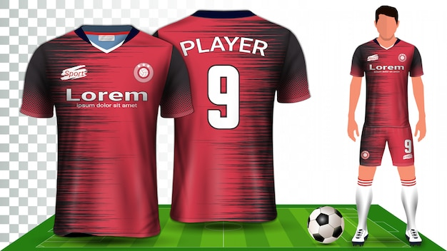 Modello di mockup di presentazione uniforme del kit da calcio