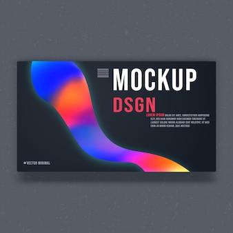 Modello di mockup di sfondo - design minimale