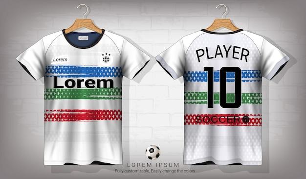 Modello di mockup di sport jersey di calcio e t-shirt.