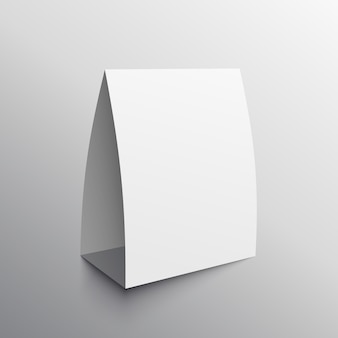 Modello di mockup vuoto della scheda di visualizzazione