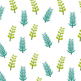 Modello di natura fogliame rami verdi