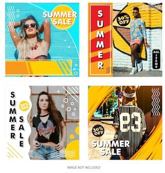 Modello di negozio instagram di vendita estiva