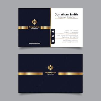 Modello di nome biglietto da visita premium