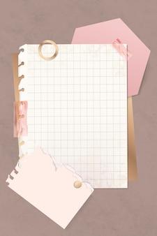Modello di nota di carta griglia