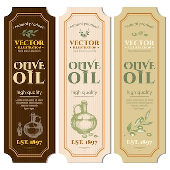 Modello di olio d'oliva etichette