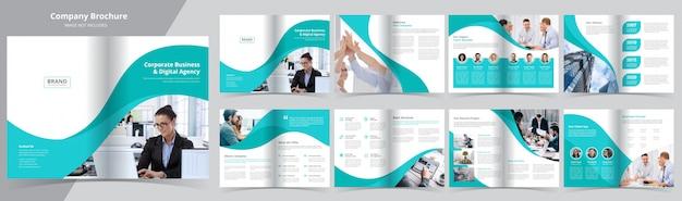 Modello di opuscolo aziendale di 16 pagine