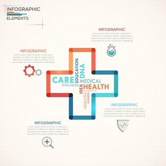 Modello di opzioni di infografica medico
