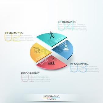 Modello di opzioni infografica isometrica
