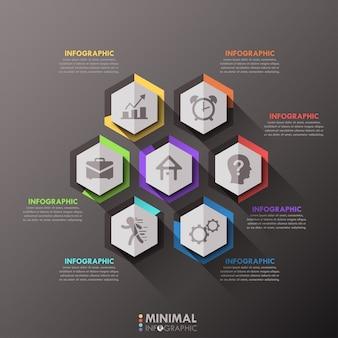 Modello di opzioni infografica minimal