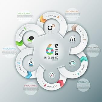 Modello di opzioni infografica moderna con nastri