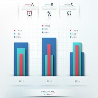 Modello di opzioni infografica moderna