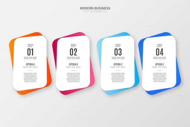 Modello di opzioni infografiche colorate