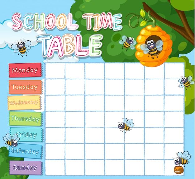 Modello di orario scolastico