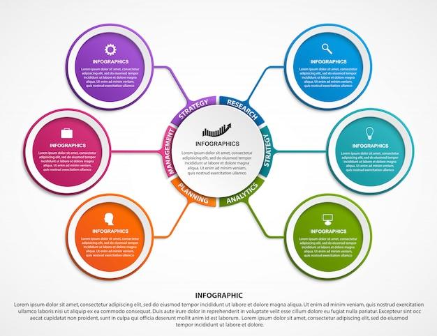 Modello di organigramma di progettazione infografica.