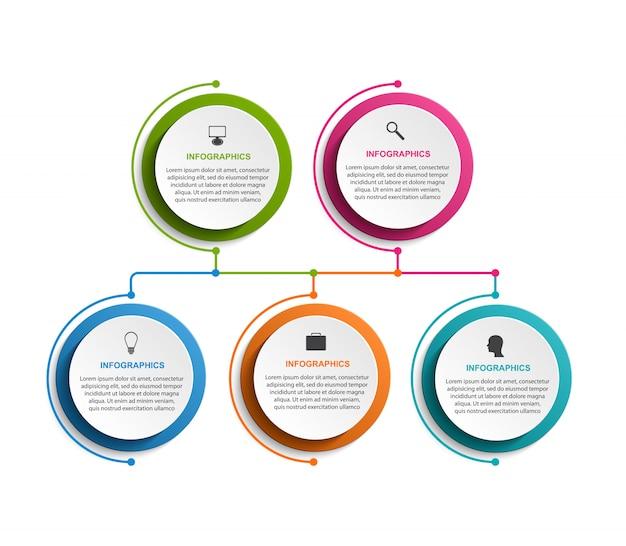 Modello di organigramma infografica.