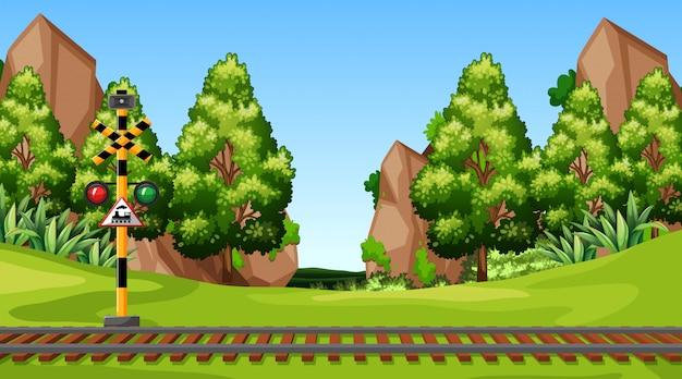 Modello di paesaggio scena natura