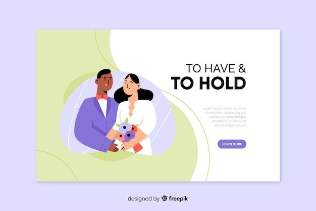 Modello di pagina di destinazione appena sposato
