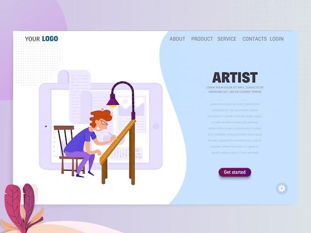 Modello di pagina di destinazione artista