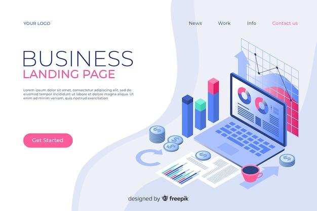 Modello di pagina di destinazione aziendale isometrica