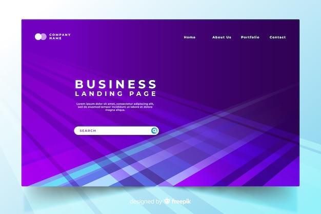 Modello di pagina di destinazione aziendale piatta