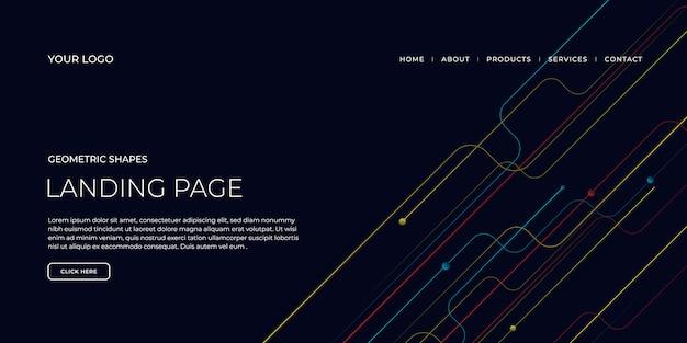 Modello di pagina di destinazione con forme geometriche