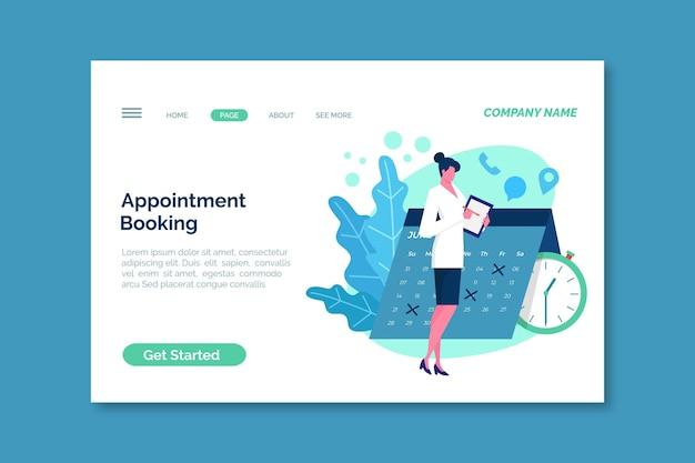 Modello di pagina di destinazione con prenotazione dell'appuntamento