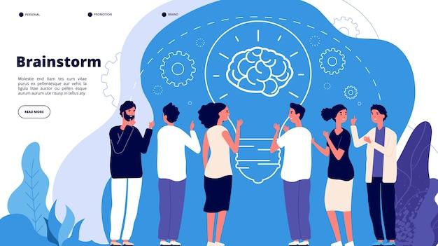 Modello di pagina di destinazione del brainstorming