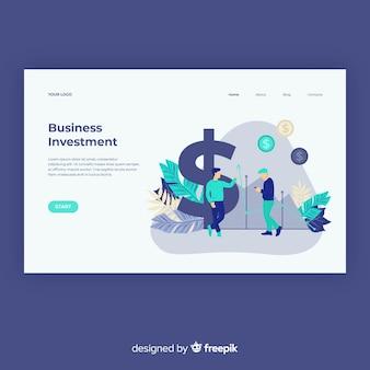 Modello di pagina di destinazione del concetto di business