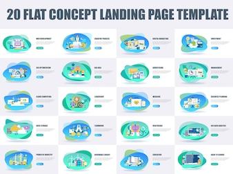 Modello di pagina di destinazione del concetto di design piatto di bundle