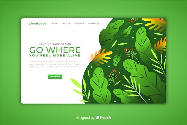 Modello di pagina di destinazione del concetto di natura