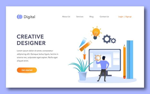 Modello di pagina di destinazione del designer creativo