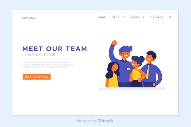 Modello di pagina di destinazione del lavoro di gruppo