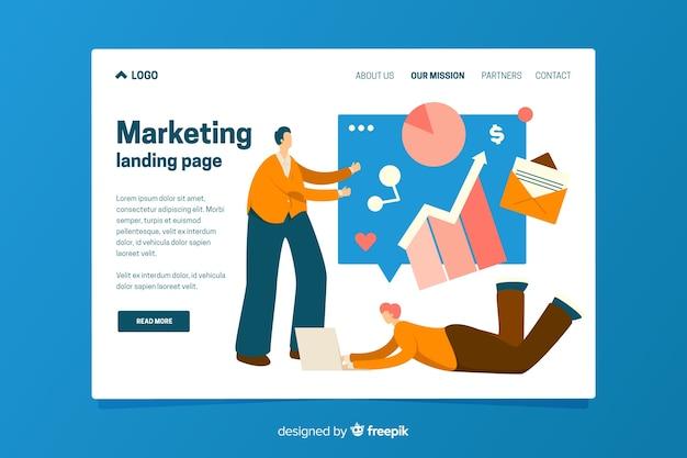 Modello di pagina di destinazione del marketing