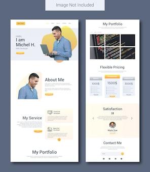 Modello di pagina di destinazione del portfolio personale