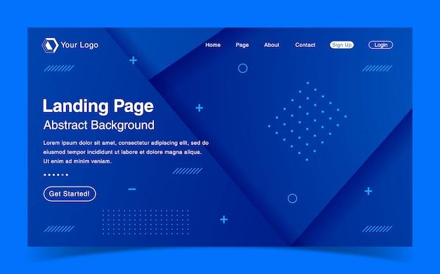Modello di pagina di destinazione del sito web
