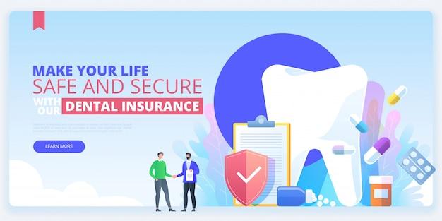 Modello di pagina di destinazione dell'assicurazione dentale