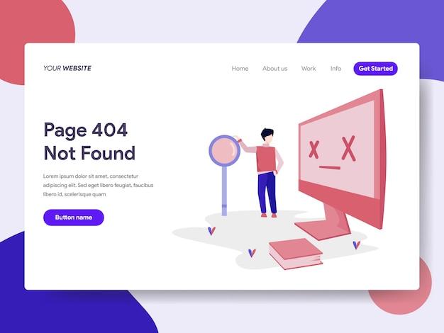 Modello di pagina di destinazione dell'errore 404