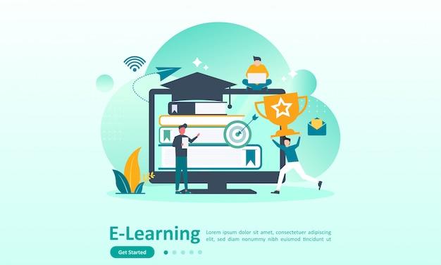 Modello di pagina di destinazione dell'istruzione online